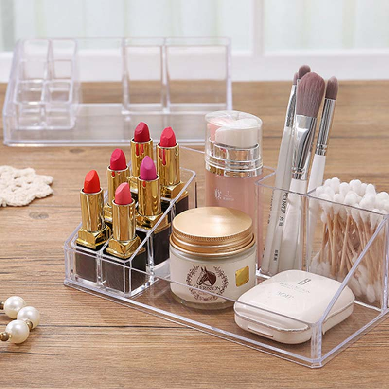 7023337ecc7a US $6.99 |Acrylic Lipstick Storage Box Makeup Containers Cosmetic Organizer  Holder-in Storage Boxes & Bins from Home & Garden on Aliexpress.com | ...