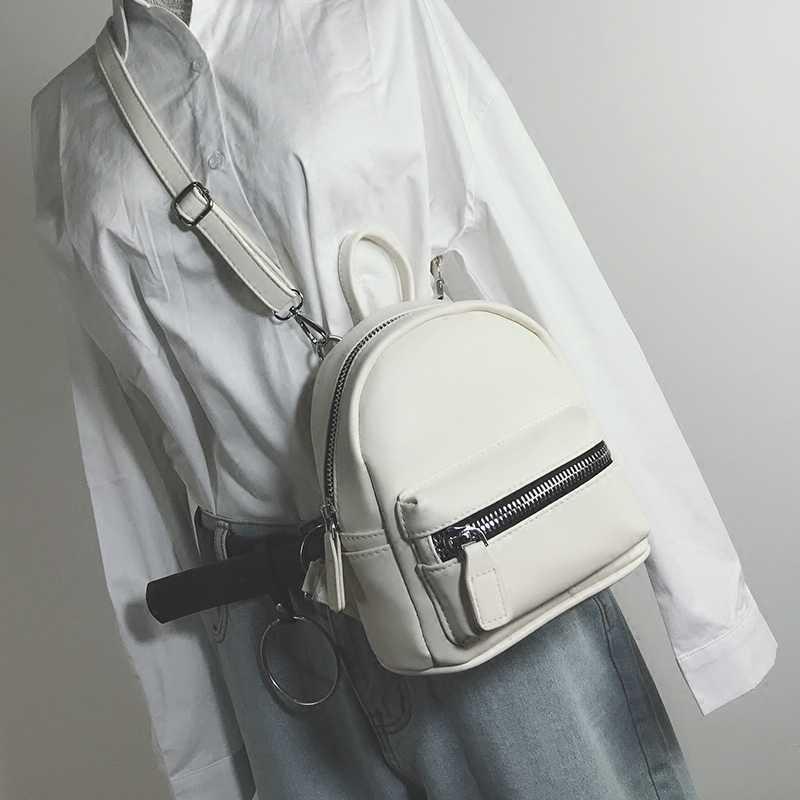 4374975100 School Backpacks 2018 Fashion New Women Mini Backpack High quality PU  Leather Women Shoulder Bags Simple
