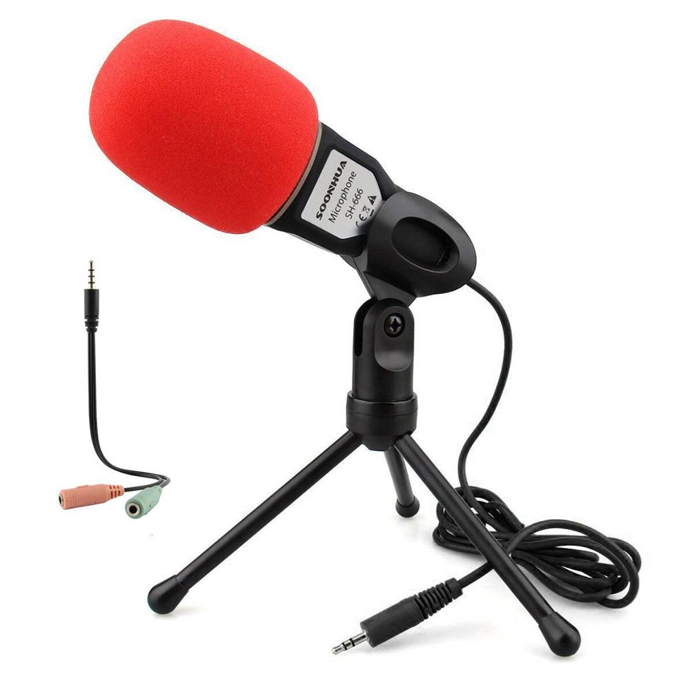 Professional Studio Microphone Desktop Computer Condenser Mic Tripod Recording