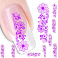 2016 new fashion Stickers & Decals Flower Water Transfer Slide Decal Sticker Nail Art Tips Toe Decor  women girl free shipping