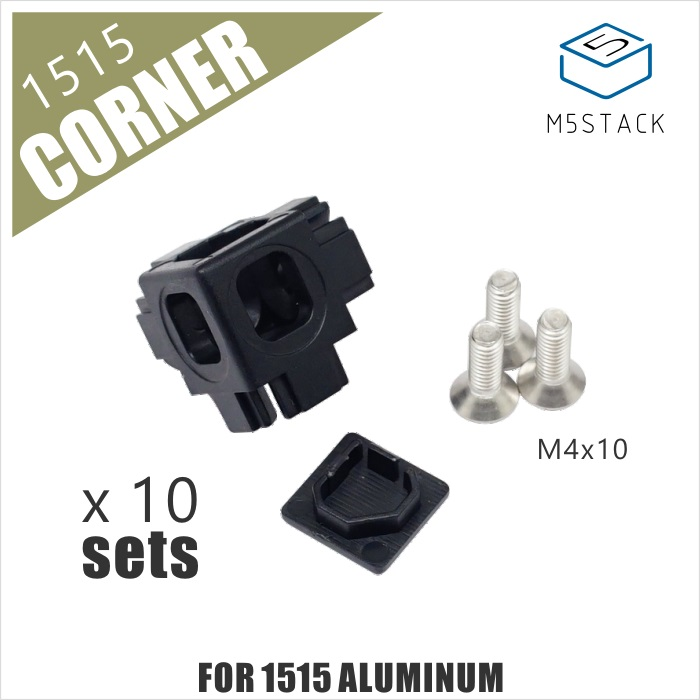 M5Stack NEW Plastic Corner Connector For 1515 Aluminum Profile 10pcs A Set M4 Screws Included M5Stack PCD Pick-Cut-Drill Machine