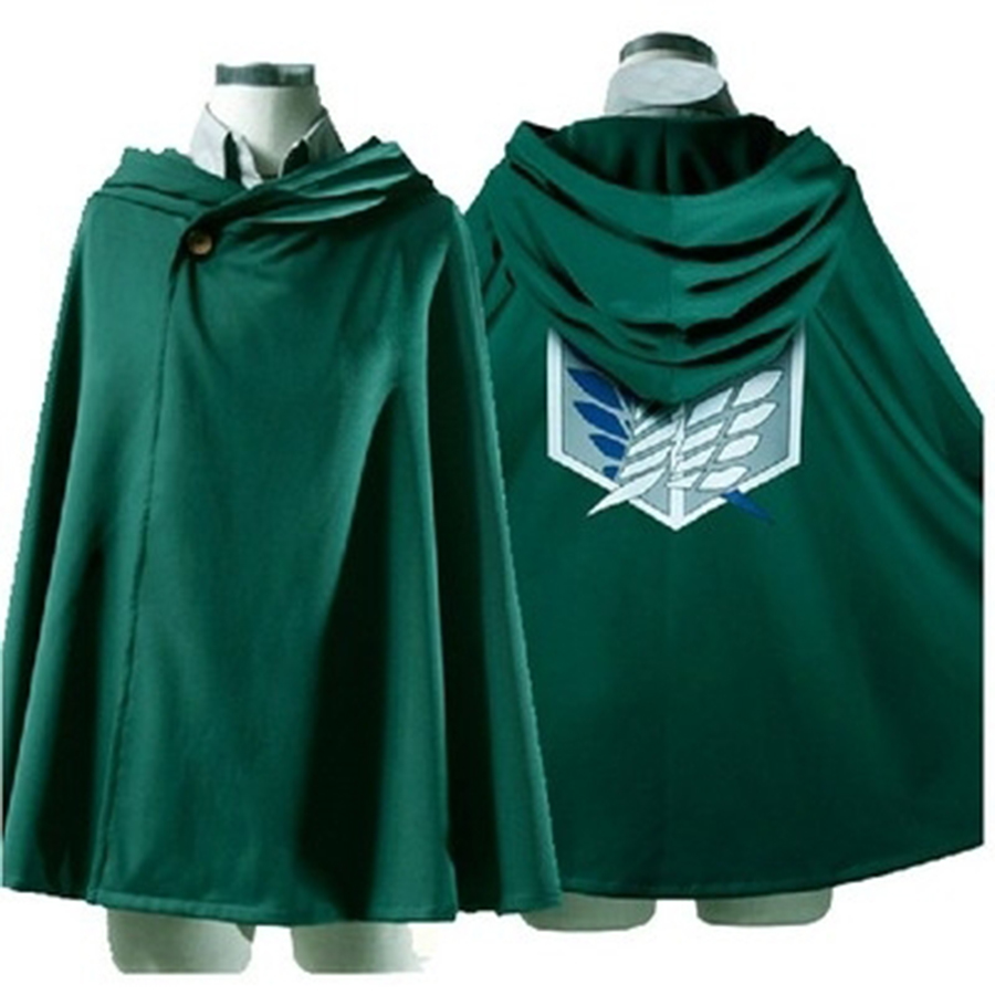 Attack on Titan Cloak Shingeki no Kyojin Scouting Legion Cloak Cape Robe Cosplay Eren S M L XL XXL