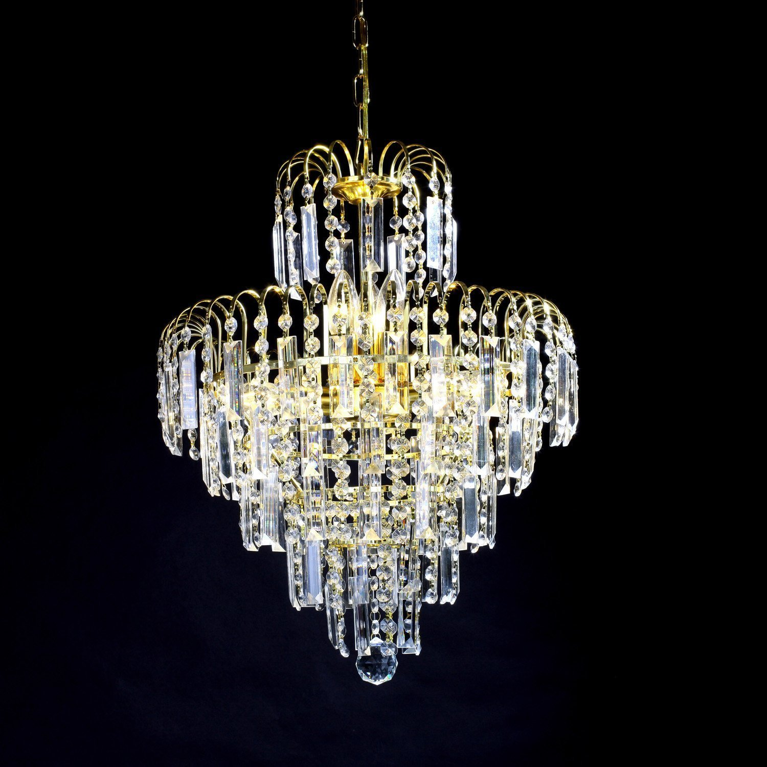 European-Style Luxury 6 Lights LED Chandelier Crystal Home Ceiling Fixture Pendant lamp Lighting Dining Room Bedroom Living Room white crystal pendants chandeliers lights vintage pendant lamp for living room bedroom europe style pendant lamps home lighting