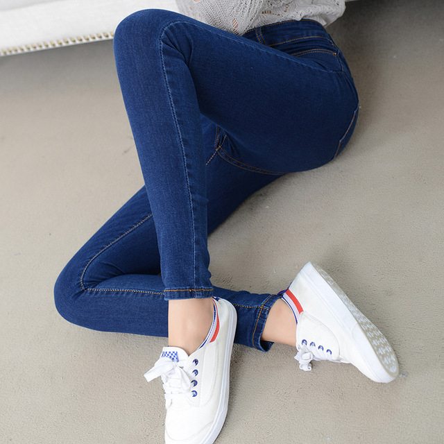 Denim Jeans Womens High Waist Stretch Pencil Skinny Ankle-length Pants Femme Black Blue Push Up 2019 Elastic Slim Streetwear0001 5
