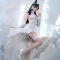 Azur Lane IJN Atago Wedding Dress Cosplay Costume White Dress Halloween Costume for Women Female Carnival Uniforms