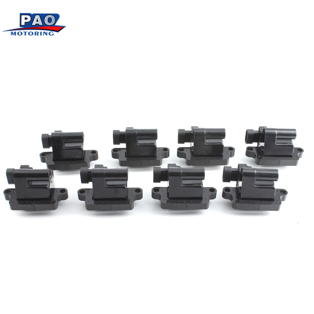 8PC Ignition Coils Fits For Chevrolet Cadillac GMC Hummer 1999 2009 New 12558693 D581 UF271 3859078
