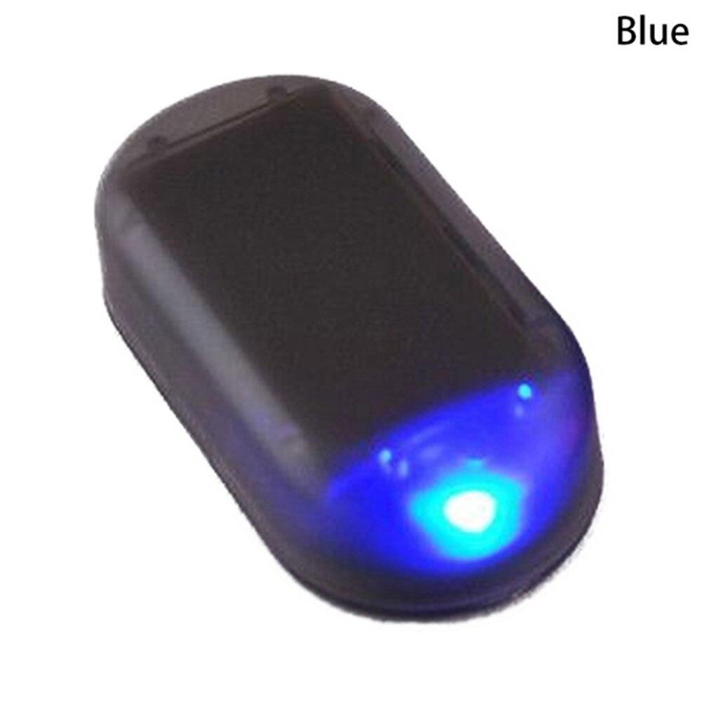 Vehemo поддельная вспышка Противоугонная Предупреждение льная лампа Противоугонная Аккумуляторная Автомобильная охранная сигнализация свет солнечной энергии - Испускаемый цвет: Синий