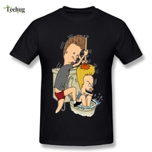 New Arrival Man Funny Beavis and Butthead T shirt Cute Cartoon Stylish Streetwear T-Shirts 2018 Latest Camiseta