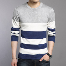 aidiemeng WOQN Spring Casual O neck Full sleeved Men Slim Pullovers Knitted Sweater