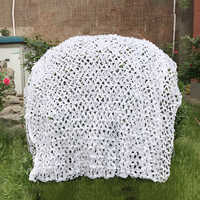 2x3 2x4 2x5 2x6 2x7 Military Snow White Camouflage Net Hunting Camping Sun Shelter Net Snow Camo Cover Military Hunting Netting