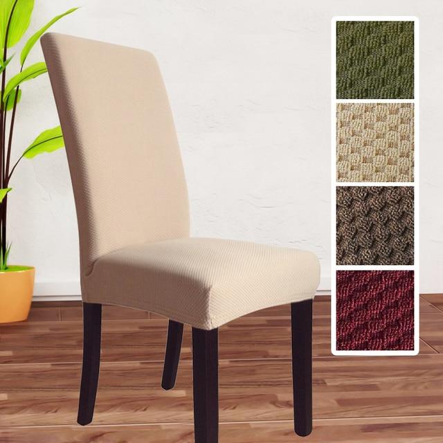 Funda elástica de tela para silla de comedor de gran ajuste en ...