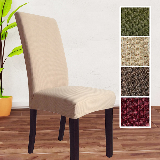 Great fit Dining Room Chair Slipcover clean chair covers fabric elastic cover