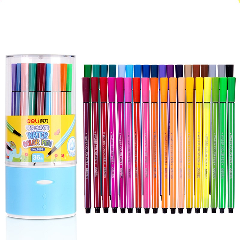 ⊹Colored Marker Pens Watercolor Fine Tip Drawing Pen Set of 12/18 ...