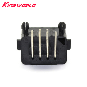 Image 1 - 10pcs Hight quality Replacement Parts 90 Degree 7 Pin Connector female for NES console Socket
