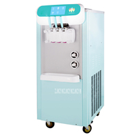 BJW188C 2200W 220V 5.8L*2 Soft Ice Cream Making Machine Commercial/Home Use Sweet Cone Ice Cream Maker With 4 Wheel Easy Move