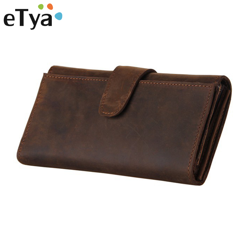 Men's Purse Long Genuine Leather Clutch Wallet Travel Passport Holder ID Card Bag Fashion Male Phone Business Handbag never leather badge holder business card holder neck lanyards for id cards waterproof antimagnetic card sets school supplies