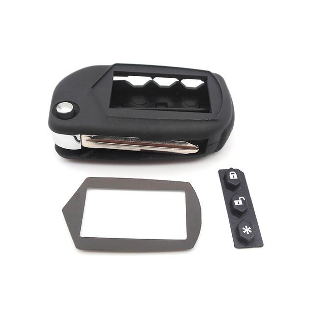 New case for Starline A91 A61 B9 B6 uncut blade fob case cover A91 folding car flip remote + A91 A61 B9 B6 Glass Wholesale
