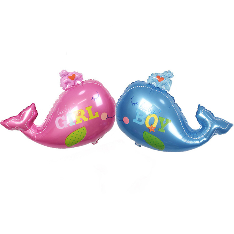 88cm*72cm Pink Blue Whale Foil Helium Balloon Birthday Party Wedding Decoration Supplies Kids Gift Favourite Toy Hot Sale