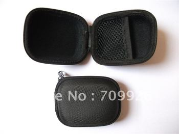 Linhuipad Black EVA carry bag and case Earbud headphone bags 500pcs/lot