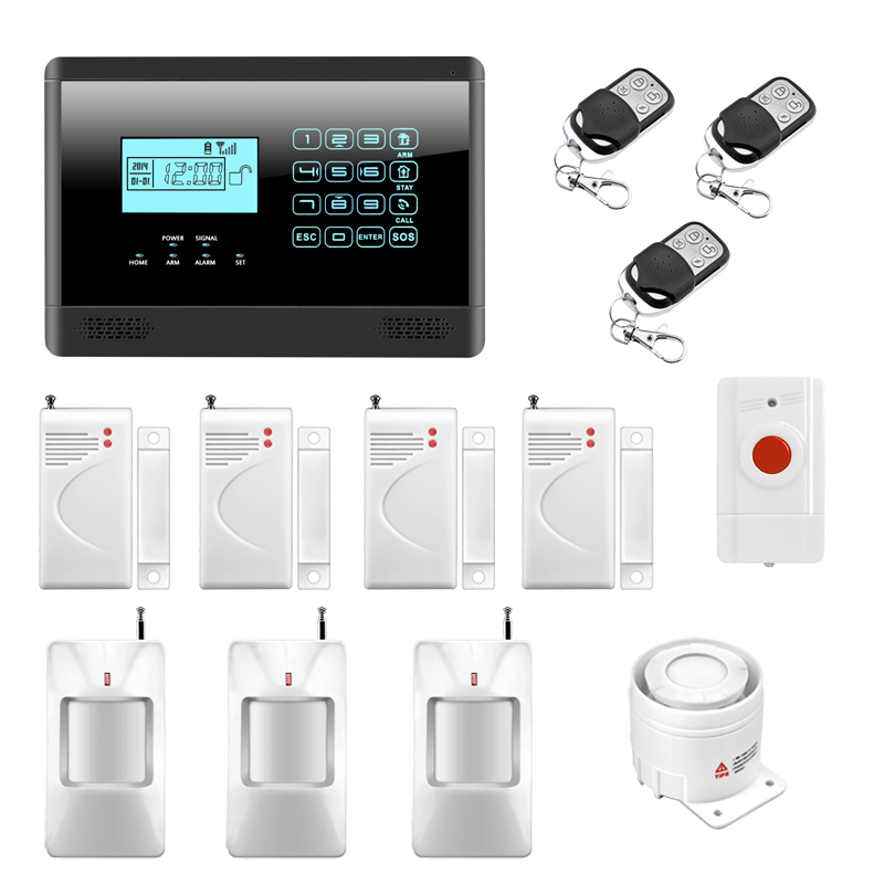 M2E Wireless GSM SMS Home Emergency Alert Security Alarm System, PIR Motion Sensor, Door Gap Detector, Panic Button wireless pir sensor motion detector gsm alarm system alert for personal safely security new arrival high quality