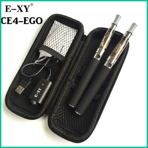 Image 3 - E XY Electronic Cigarette CE4 Double Starter Kits Zipper Carry Case 1100mAh eGo Kit 1.6ml Ce4 Atomizer E Cigarette Zipper Kit