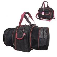 Расширяемая сумка-переноска для собак авиакомпания одобрит автомобильный контейнер для перевозки домашних животных о отверстиями для воздуха кошка/собака уличная сумка складная маленькая/средняя собака сумка на плечо
