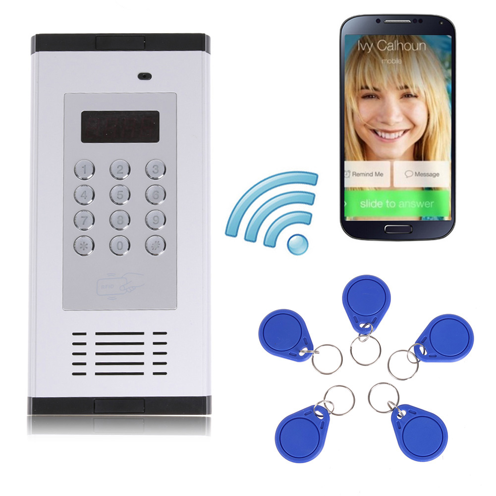 GSM 3G Intercom Access Control System Apartment Door Phone Doorbell Intercom Doorphone Apartment Security Control System silvery white gsm 3g apartment intercom access control system door open press button built in 3g 850 1900mhz umts 3g gsm module