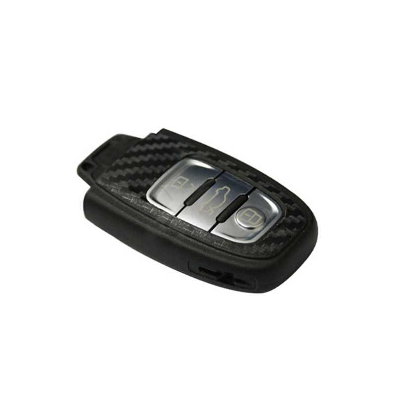 DIY بها بنفسك ألياف الكربون سيارة مفتاح ملصق الديكور لأودي A4 A6 RS4 A5 A7 A8 S5 RS5