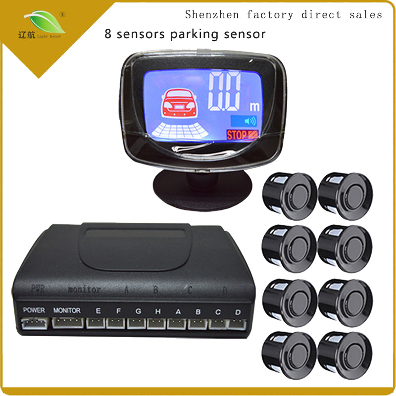 Light heart Auto Parktronic LCD Parking Sensor With 8 Sensors Reverse Backup Car Parking купить в Москве 2019