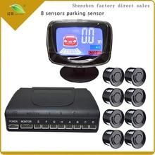 Luce cuore Auto Parktronic LCD Sensore di Parcheggio Con 8 Sensori di Retromarcia di Backup Parcheggio Auto 813B