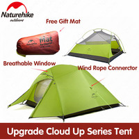 Naturehike tent Upgrade Cloud Up 1 2 3 Persons Camping Tent Outdoor 20D Silicone Ultralight Tent With Free Mat NH17T001 T
