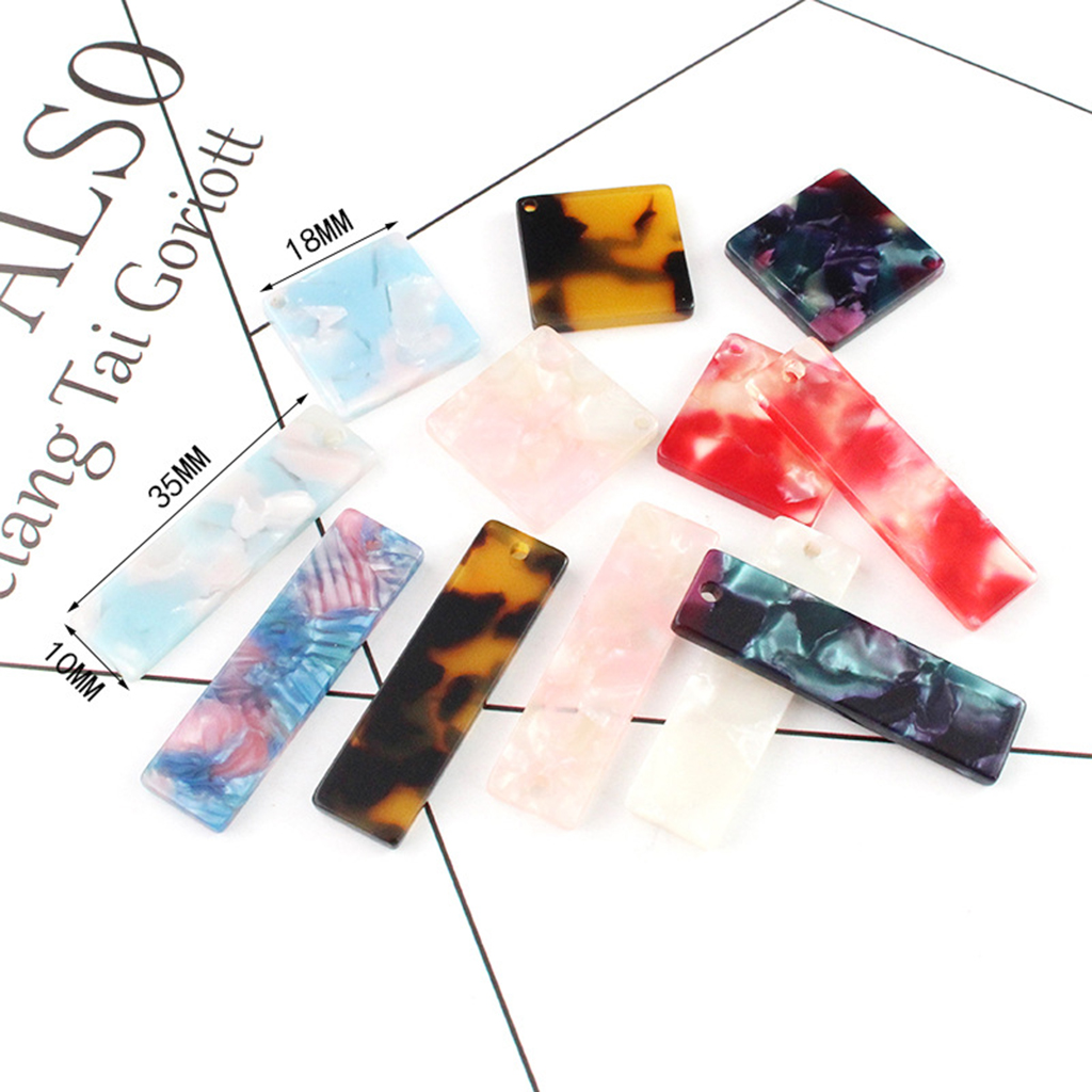 MagiDeal 10pcs Square Geometric Acetate Acrylic fit Earring Dangle DIY Craft Jewelry