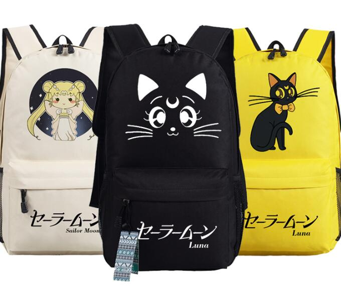 Women Girl Sailor Moon Anime Backpack Book Shoulder Bag Cosplay Gift 45x32x13cm