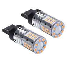 2 x No Resistor Hyper Flash T20 7440 W21W WY21W Amber Yellow Orange 3030 LED Bulbs Car Turn Signal Light Canbus Lamp 12V 24V