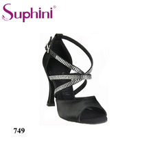 Free Shipping 2017 Suphini Latin Salsa Shoes New Trendy style Woman Dance Shoes Crystal Latin Dance