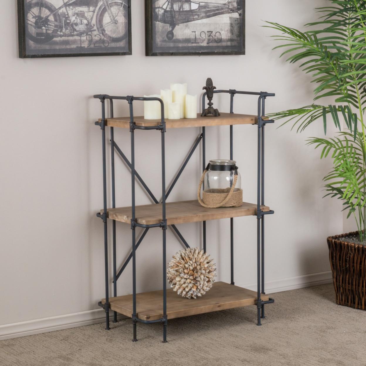 Denise Austin Home Brooklyn 3-Shelf Bookcase denise agosdane