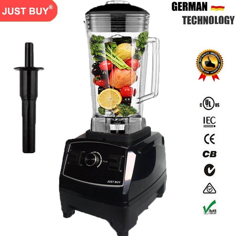 BPA Livraison 3HP Heavy Duty Commercial Blender Mélangeur Haute Puissance Alimentaire Processeur Glace Smoothie Bar Fruits Mélangeur Électrique
