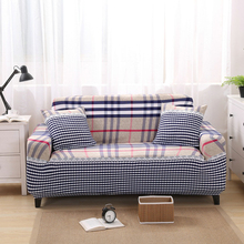 New Sofa Cover Polyester Slipcover Stitching Fabric Plaid Stretch Elastic Furniture  Protector Corner Sofa Cover For