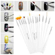 Nail Art Decorations Set 10 Mixed Colors Rolls Nail stickers with 20PCS Nail Brushes Pen Packs Nail Tools Kit Set #BSEL