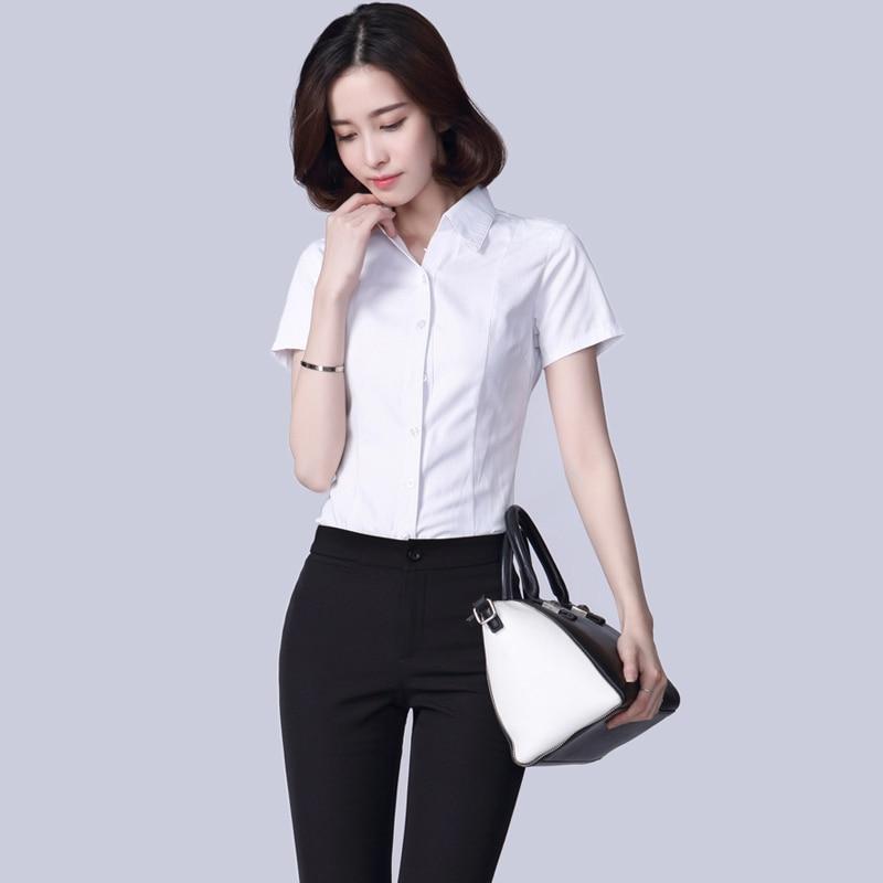 Aliexpress.com : Buy 2017 Women's White Shirts Elegant OL Business ...