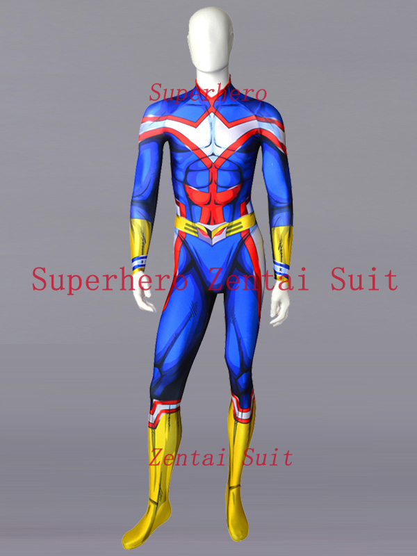 My Hero Academia All Might Male Cell Cosplay Costume Toshinori Yagi Boku no Hero Academia Only Bodysuit For Adult/Kids/Custom