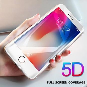 141d6445bd0 Vidrio Templado 5D para iphone X XS Max XR 8 7 6 6 S Plus funda protectora  de vidrio 3D gafas de borde curvado para iphone 6 s plus 8 plus