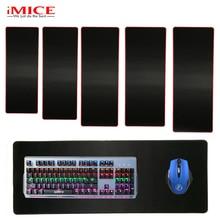 Solid Large Gaming Mouse Pad Big Red/Black/Blue Locking Edge Keyboard Desk Mousepad Mat Gamer Anti-slip Rug for Dota 2 CS Go