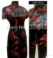 Cheongsam Qipao Women Fashion Black Red Slim Chinese Traditional High Quality Cheongsams Dress