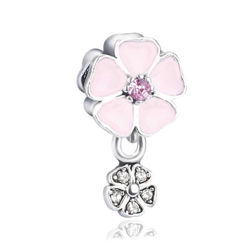 Fit Pandora Charms oryginalna bransoletka biżuteria walentynki Mary Poppins Bijoux Sieraden paciorki