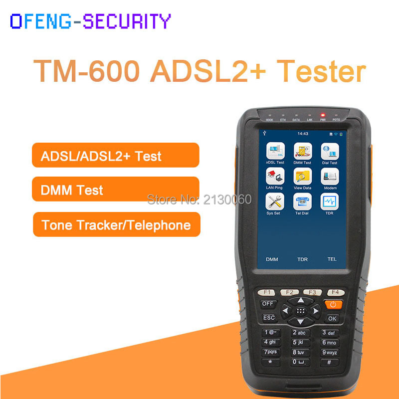 TM-600 ADSL/ADSL2 + Tester, Tester di Prova DMM + Tono Tracker (Cavo Tracker) Funzione, TM600ADSL2 + Tester