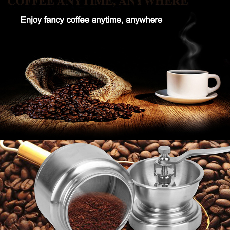 Grinding Machine 304 Stainless Steel Grinding Machine Hand Grinding Coffee Beans Handmade Household Rice Grinder Crusher l beans household coffee beans grinder manual coffee machine adjustable thickness hand grinder