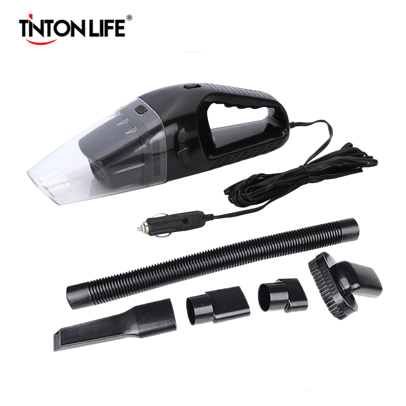 TintonLife Portable Car Vacuum Cleaner 12V DC Cable Length 5M yy 6617 car vacuum cleaner white