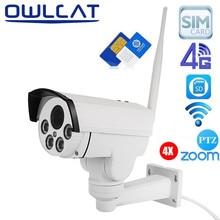 Owlcat 4G Tarjeta Sim de la cámara IP WiFi CCTV cámara PTZ HD 1080 P 960 P 4X Zoom Óptico de Enfoque Automático lente 2.8-12mm de Seguridad de Vídeo cámara