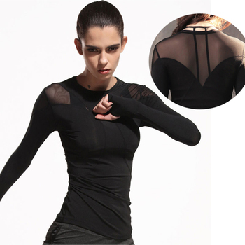 Toppick 2019 Women Yoga Top Long Sleeve Yoga Shirts Sport Shirt Women Fitness Gym Shirt Women Sport Clothes for Women T Shirt 1